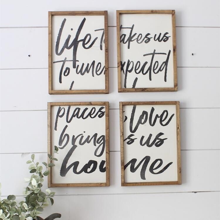Life Takes Us To Unexpected Places Love Brings Us Home Set Of 4