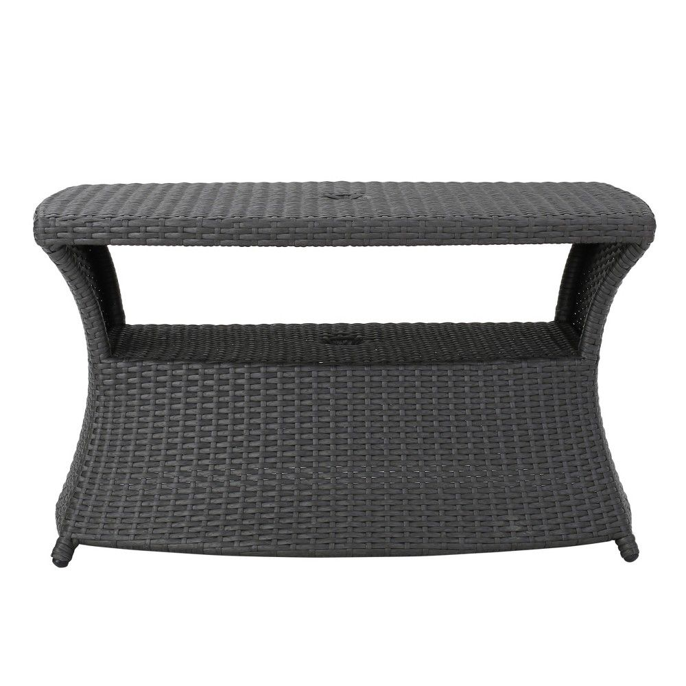 Berkeley Wicker Side Table - Multibrown - Christopher Knight Home, Gray