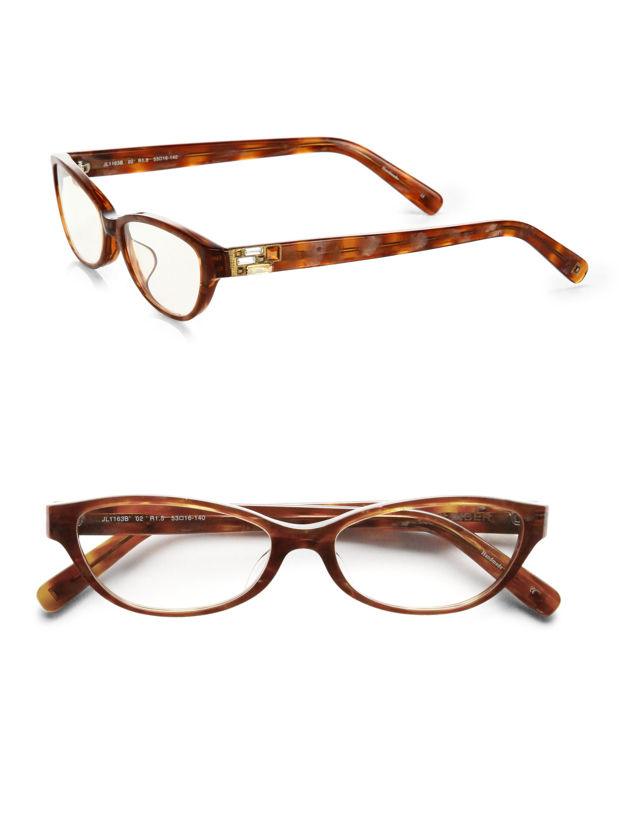 abaaca01b28 Judith Leiber Cat Eye Glasses Premium designer outlet online boutique at  luxlu.com