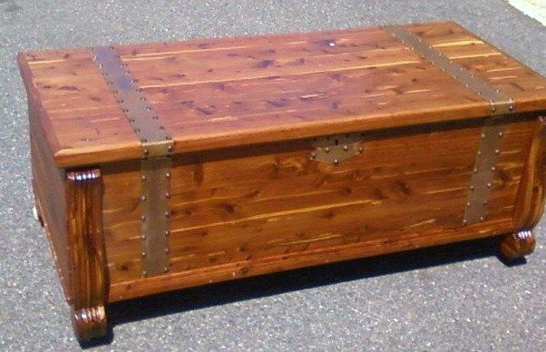Found This In The Trash Antique Cedar Lined Chest Given A New Life Refurbished And Brass Fittings Repaired And Polished Diy Coffee Table Furniture Diy Table