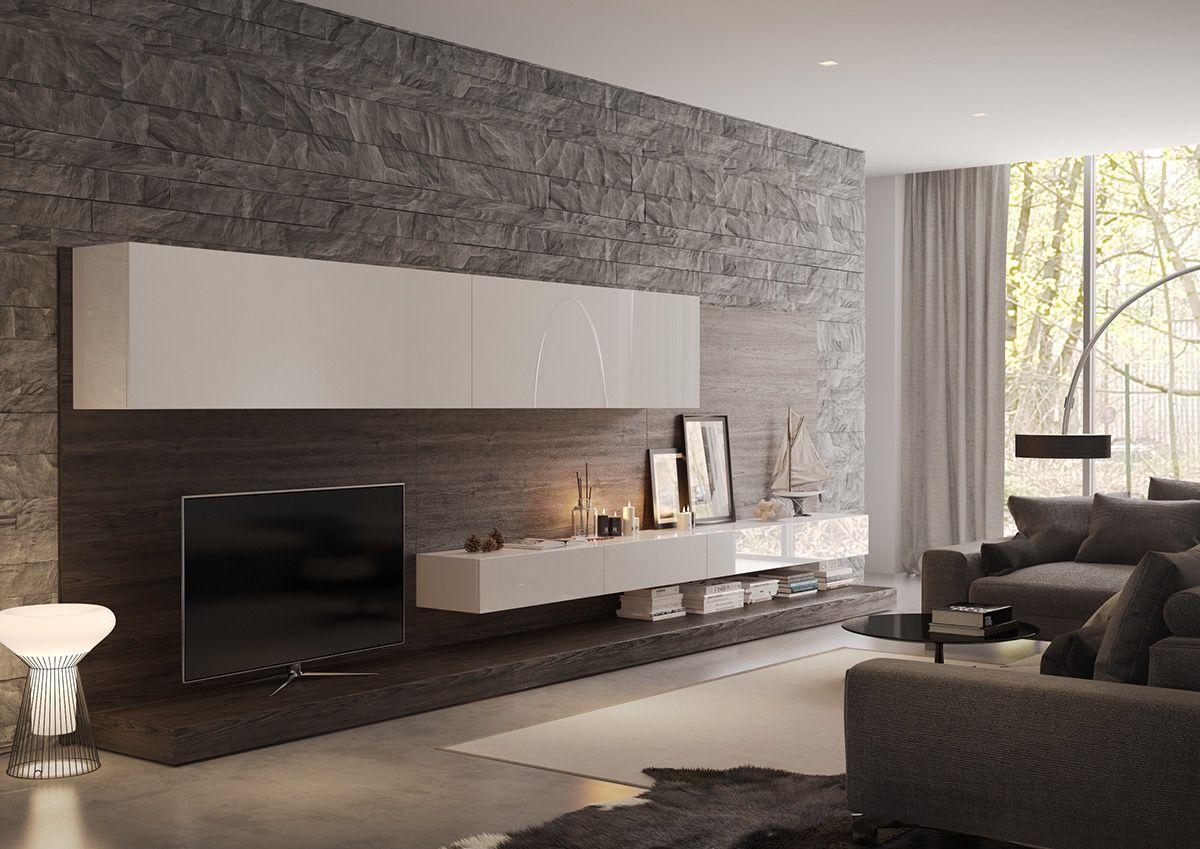 Interior design-ideen wohnzimmer mit tv wand textur designs für das wohnzimmer ideen u inspiration in