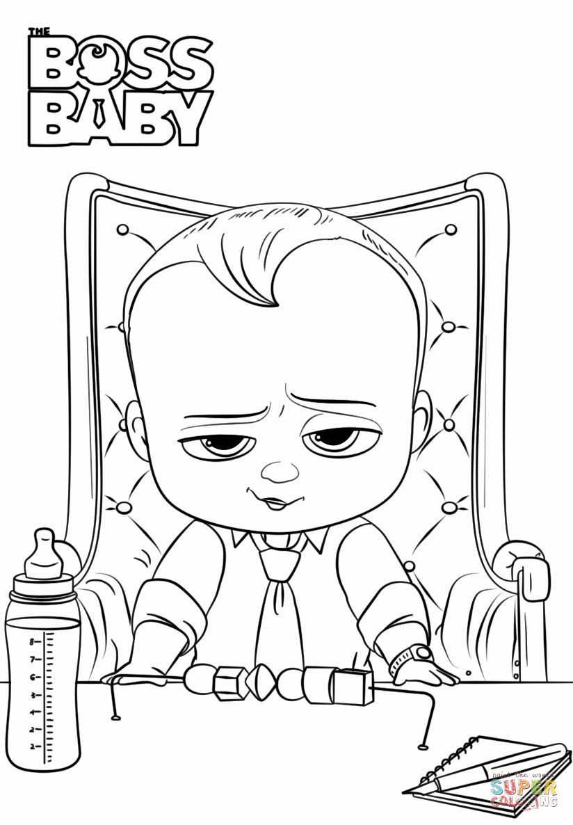 Boss Baby Coloring Page Unique Boss Baby Coloring Page Baby Coloring Pages Toddler Coloring Book Coloring Books