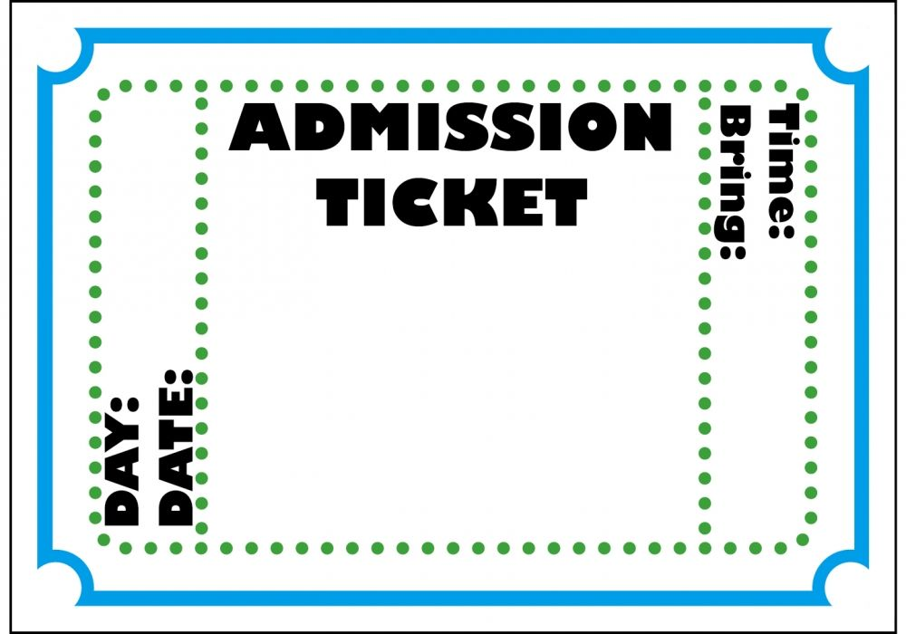 circus ticket template | posts related to carnival admission ticket ...