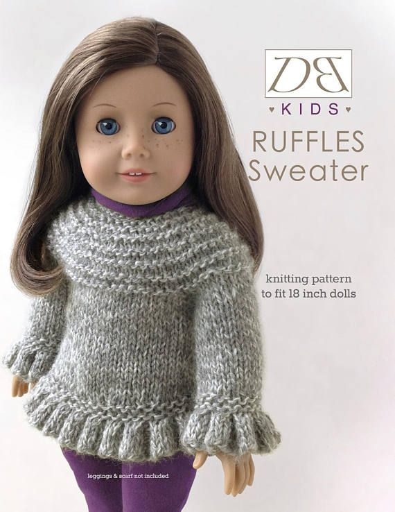 Doll Clothes Knitting Pattern Pdf For 18 Inch American Girl Type