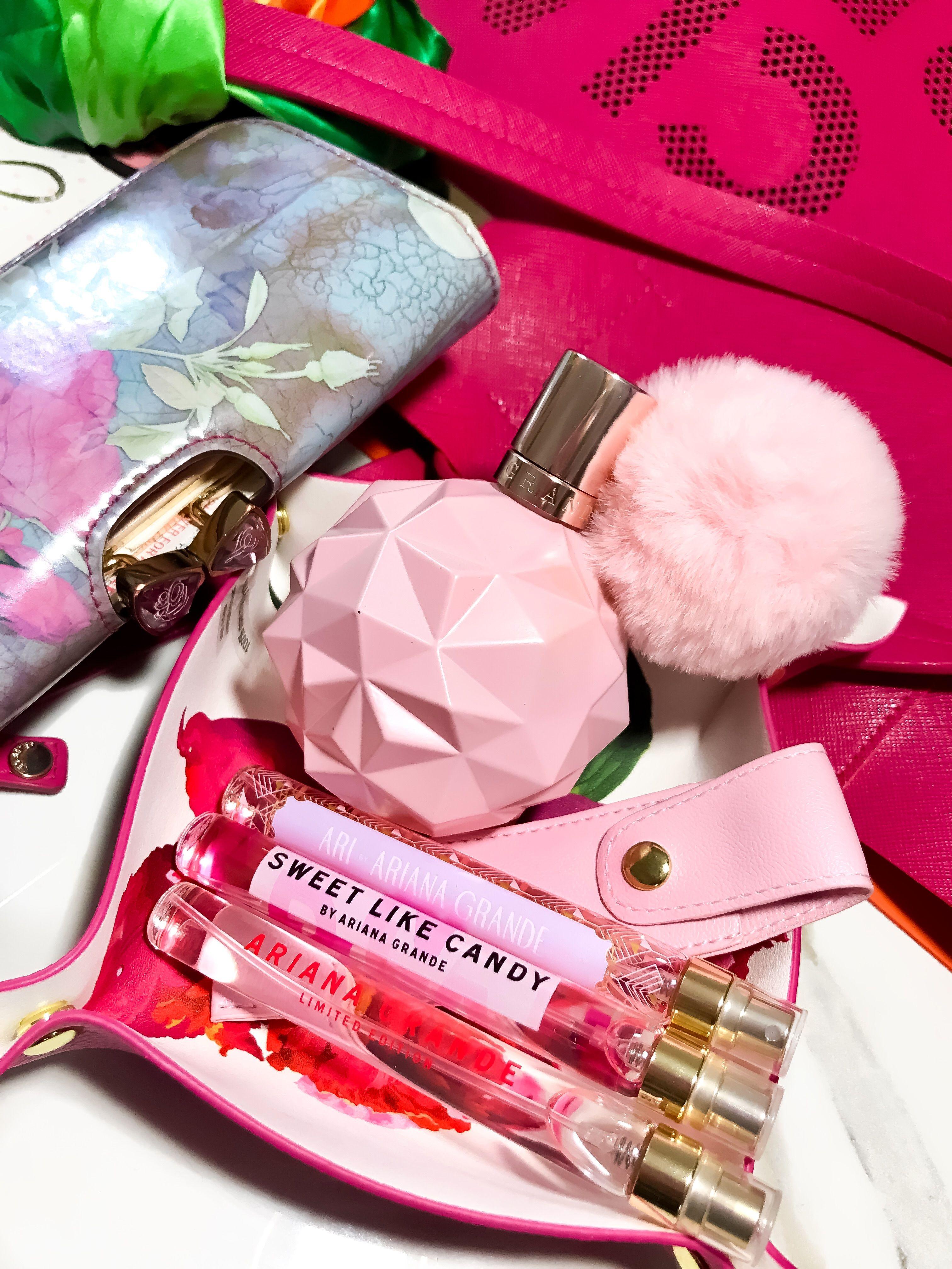 Ariana grande pink dress jimmy  Girls love pink pink fashion arianagrande perfume fragrance