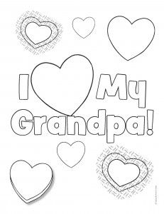 To celebrate grandparents day on september 9th we bring for Happy fathers day grandpa coloring pages