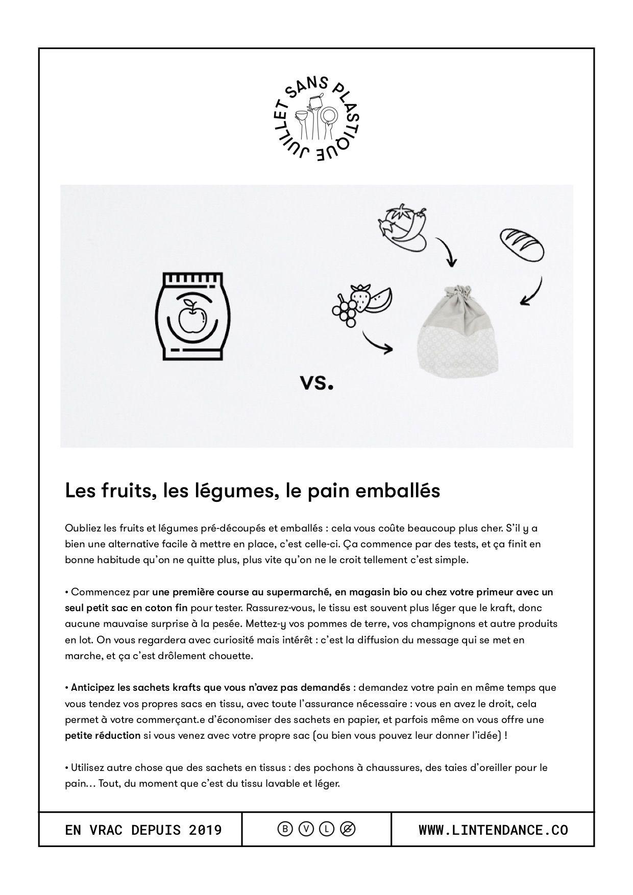 Juillet Sans Plastique Fiches Pratique 2 L Intendance Bonnes Habitudes Zero Dechet Fiches
