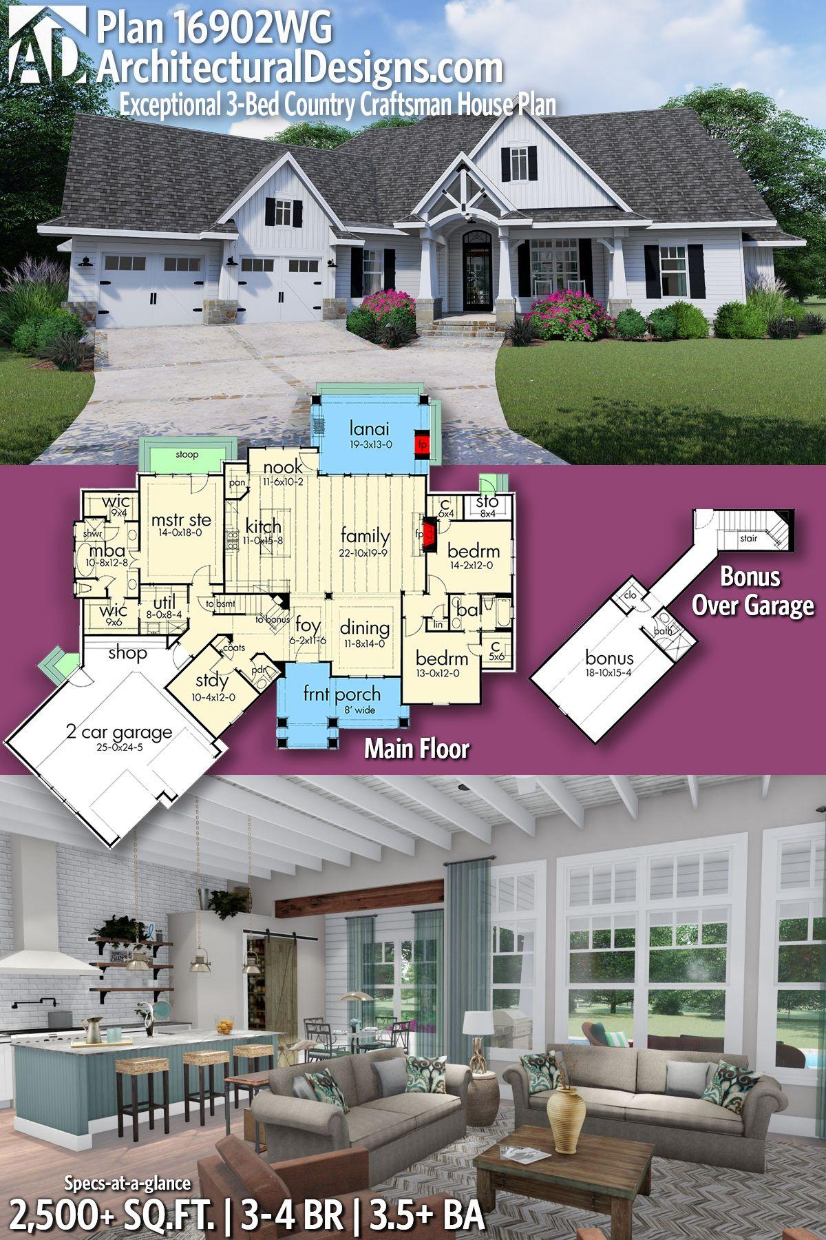 Architectural Designs Craftsman House Plan 16902WG 3