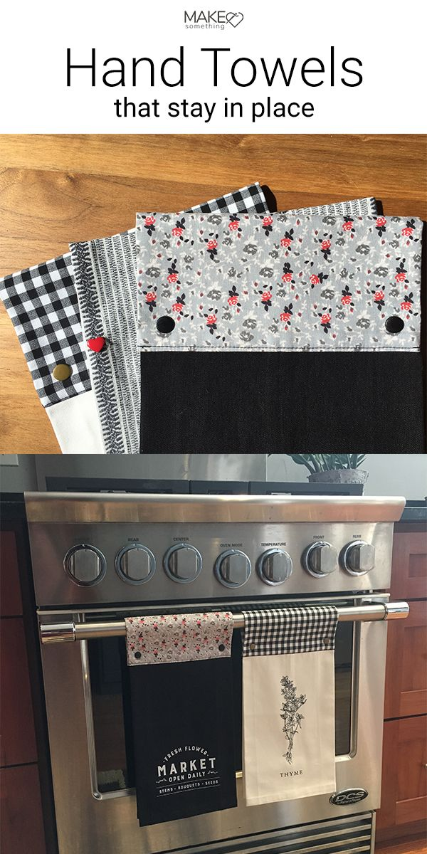 Refresh Store Bought Kitchen Towels #sewingcrafts