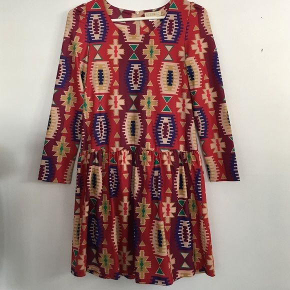 EYEDOLL printed drop waist dress EYEDOLL for Anthropologie tribal printed drop waist dress. Willing to consider any offers! Anthropologie Dresses Mini