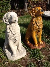 Concrete Dog Statues | Unique Lawn Garden Statues