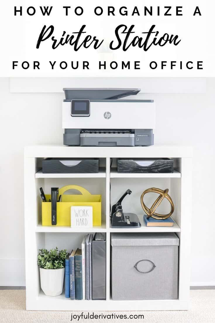 Home office setup ideas for an efficient printer station - Small office setup ideas ...