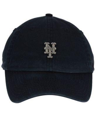 quality design c537d 7a026  47 Brand New York Mets Hardware Clean Up Cap - Black Adjustable.
