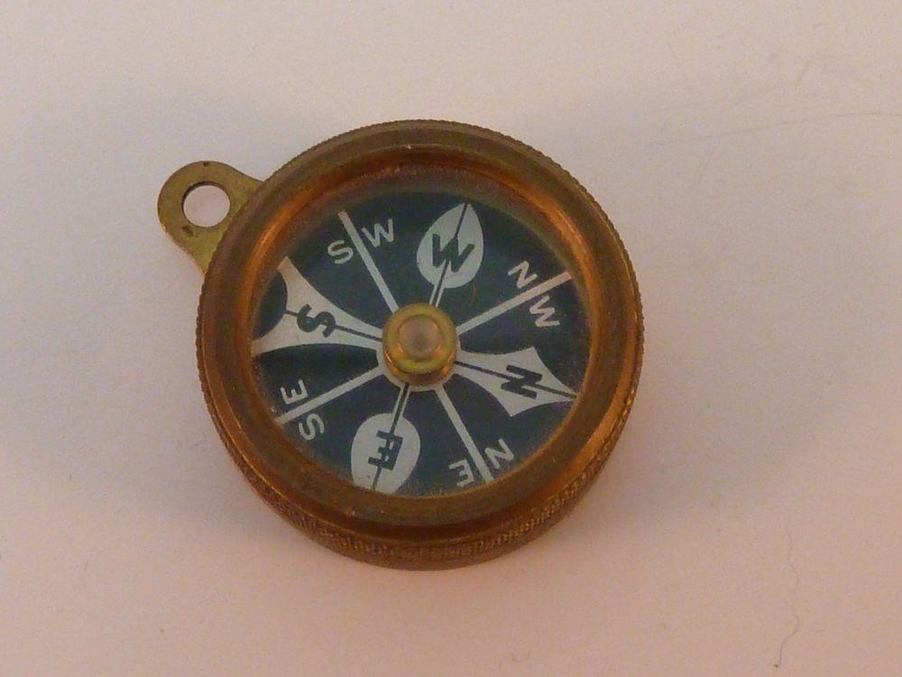 Antique Marbles Gladstone Compass Wwii Era Brass Michigan Usa Antiques Gladstone Michigan Usa