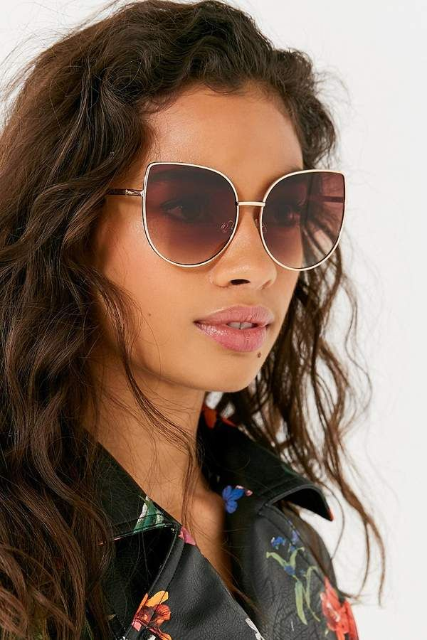 27af16cccbb Urban Outfitters Lux Oversized Cat-Eye Sunglasses
