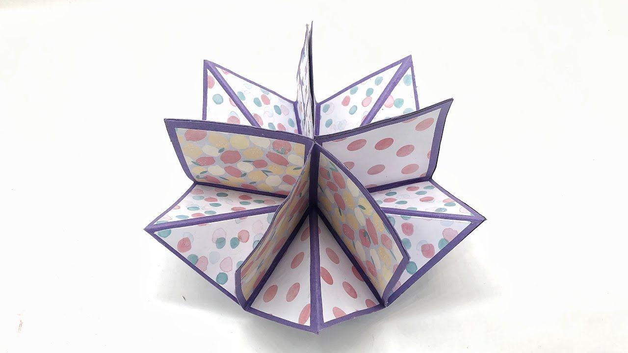 Pentagon Circular Rotating Card 1020 Youtube Cards Diy Craft Projects Mini Albums