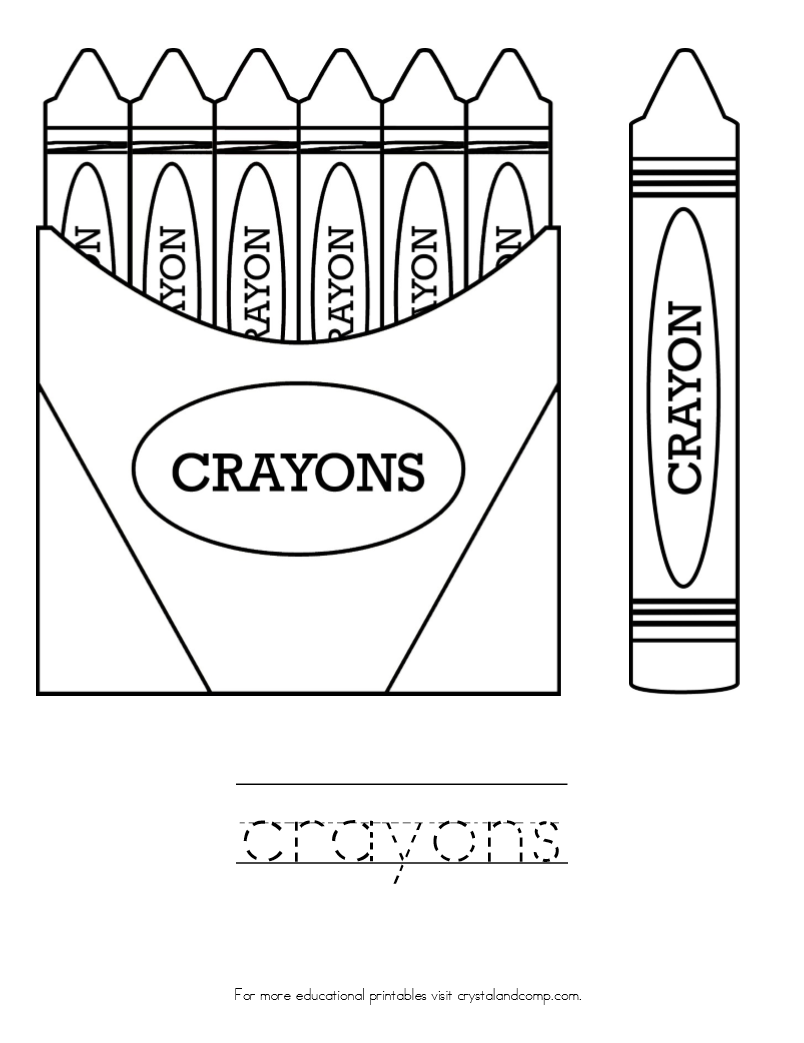 Kid Color Pages Crayons School Coloring Pages School Themes Coloring For Kids