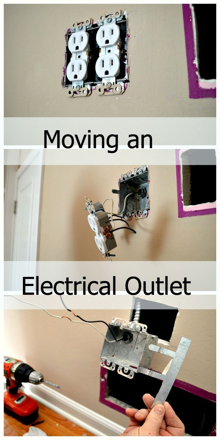 Step by step tutorial on moving an electrical outlet DIY