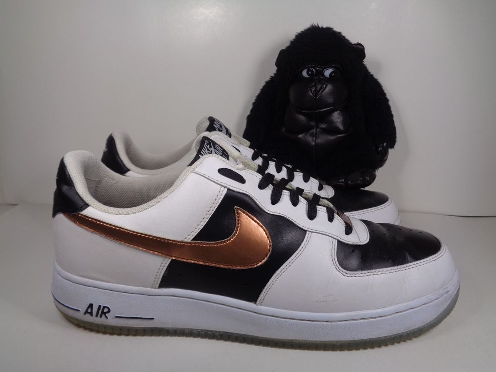 low priced 68fae d8a9e Men Nike Air Force One Black White Copper Basketball shoes size 13 US 488298-151   Nike  BasketballShoes