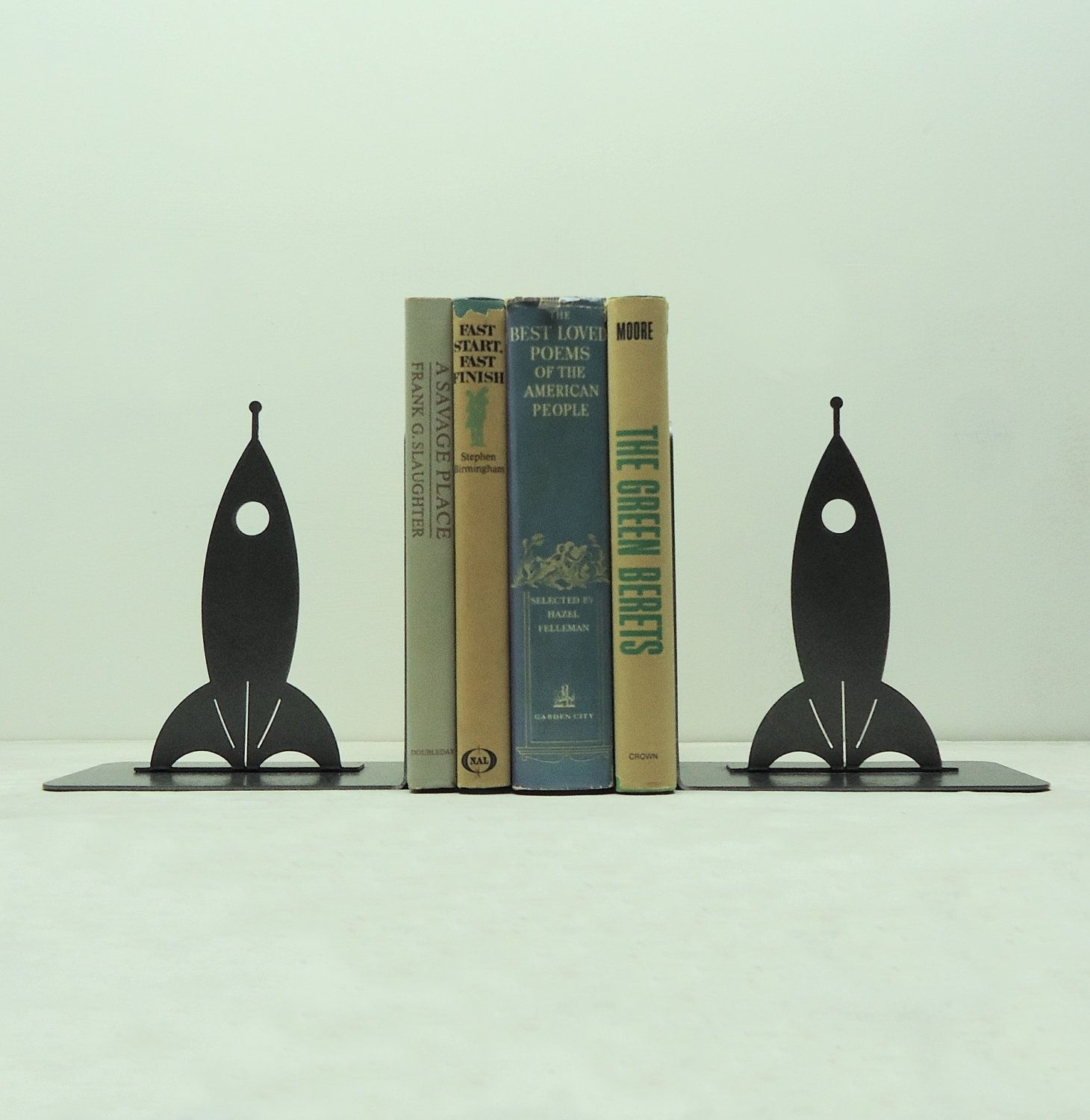 Rocketship Bookends Free Usa Shipping By Knobcreekmetalarts Need These
