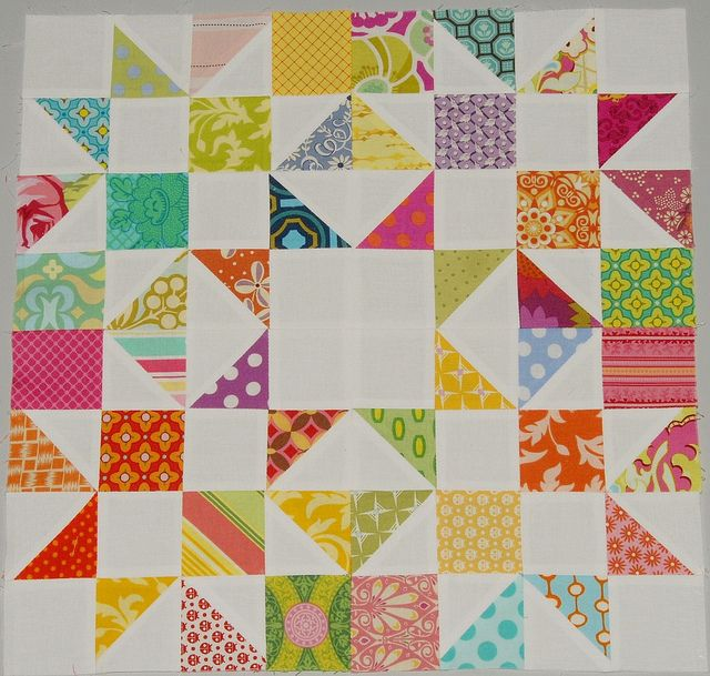 Modern Bee Block for Leanne by ircabbit, via Flickr