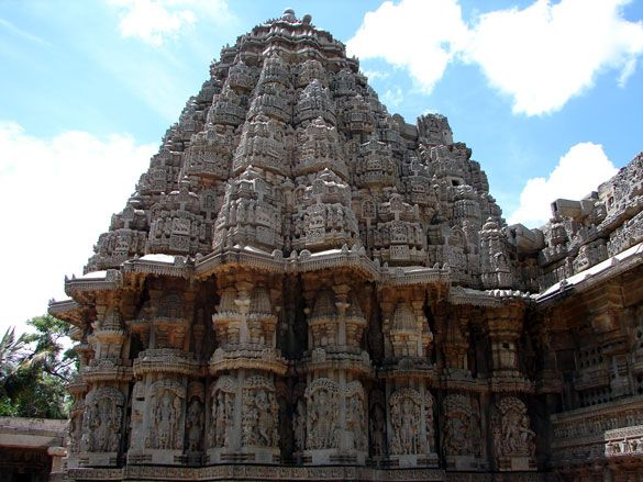 One of the Kesava Temple's three stunning towers. The attention to detail is amazing.
