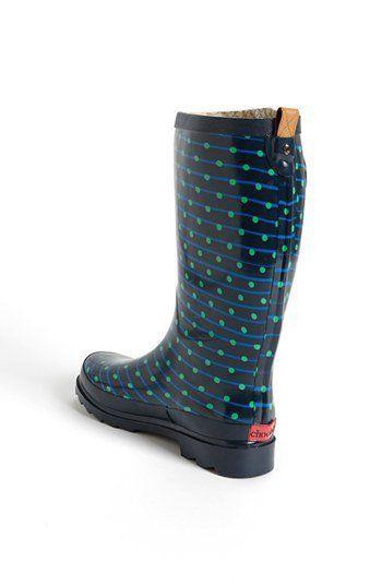 """Classical Dot"" Rain Boot ~ Chooka"