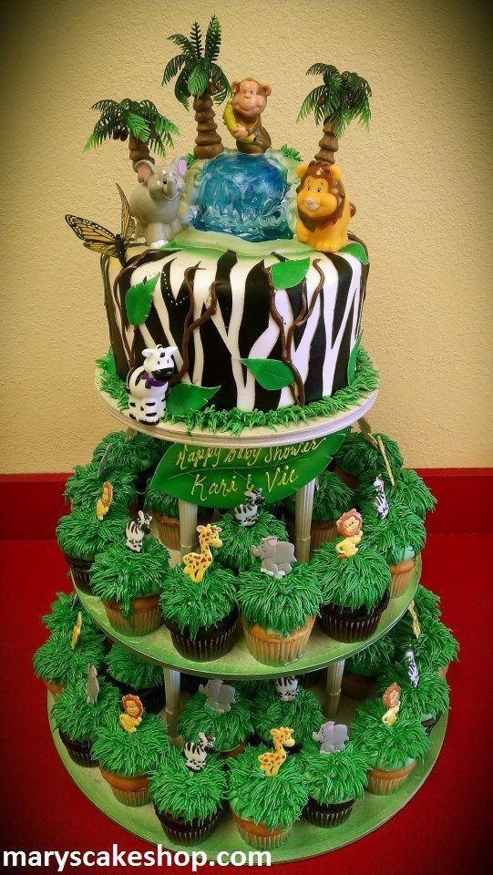 Safari Cakes | Safari Cake And Cupcake Combo