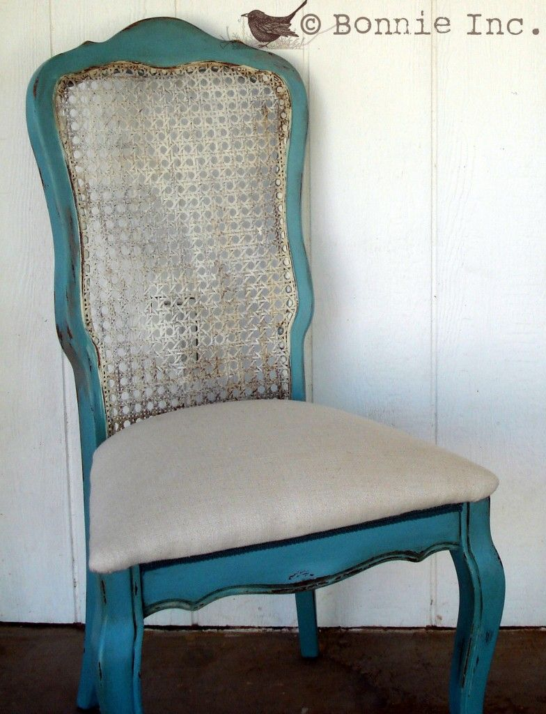 Annie Sloan Chalk Paint In Provence Cane Back Chair Redo LOOOOOVE