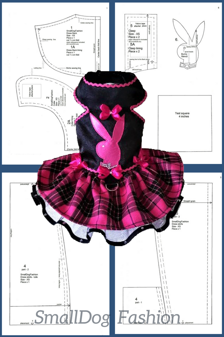 PDF dog clothes Dog dress PDF For dog Size S DIY dog dress #smalldogfashion #dogclothesdiypattern #dogfashion #dogdress #petclothes #petdress #petlovers #smalldogclothes #sewingpattern #pinkdress