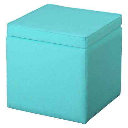 Square Storage Ottoman Sunbleached Turquoise $17 at Target to go with the  awesome. - Square Storage Ottoman Sunbleached Turquoise $17 At Target To Go