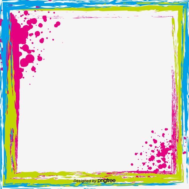 Vector Color Inkjet Border Brush Effect, Border Picture