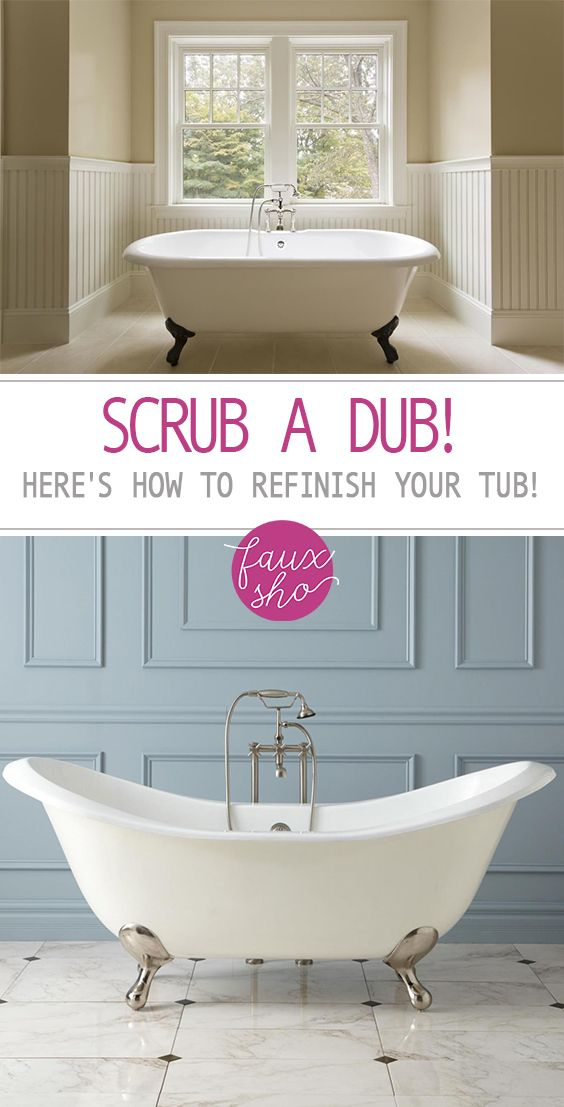 Scrub A Dub! Here\'s How to Refinish Your Tub! - | Diy bathroom ...