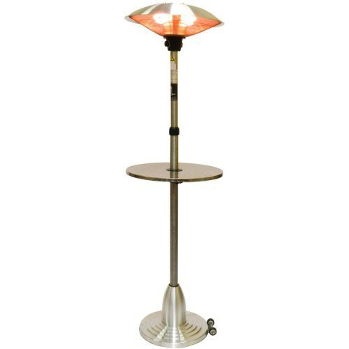 Lava Heat Pub Table 1500 Watt Electric Outdoor Heater by Lava Heat Italia. $399.00. 1500 watts of heating power. Stainless steel construction for long lasting use. Weighted base keeps the heater from tipping over. Wheels help easily move the heater around. Table height can be adjusted for sitting or standing. Lava Heat Pub Table 1500 Watt Electric Outdoor Heater. PUBTABLE. Freestanding Patio Heaters. Creating year-long comfort for both indoors and outdoors with qu...