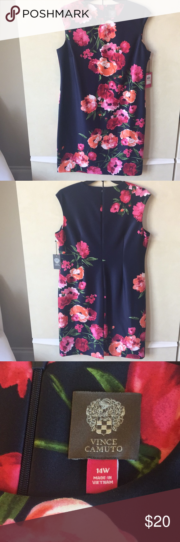 Nwt Vince Camuto Floral Dress Vince Camuto Floral Dress Floral Dress Pink Floral Dress [ 1740 x 580 Pixel ]