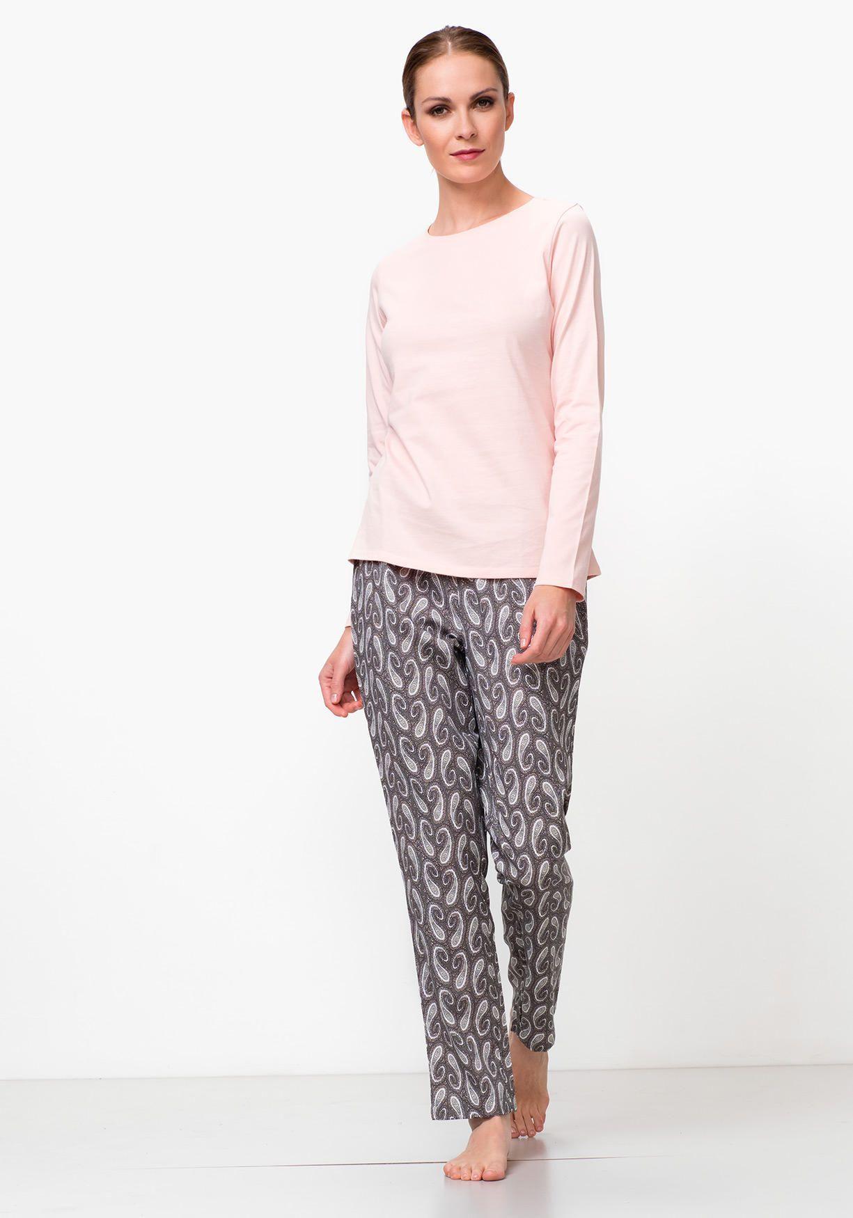 Pijama de mujer combinado manga larga 46972f0c4b9d