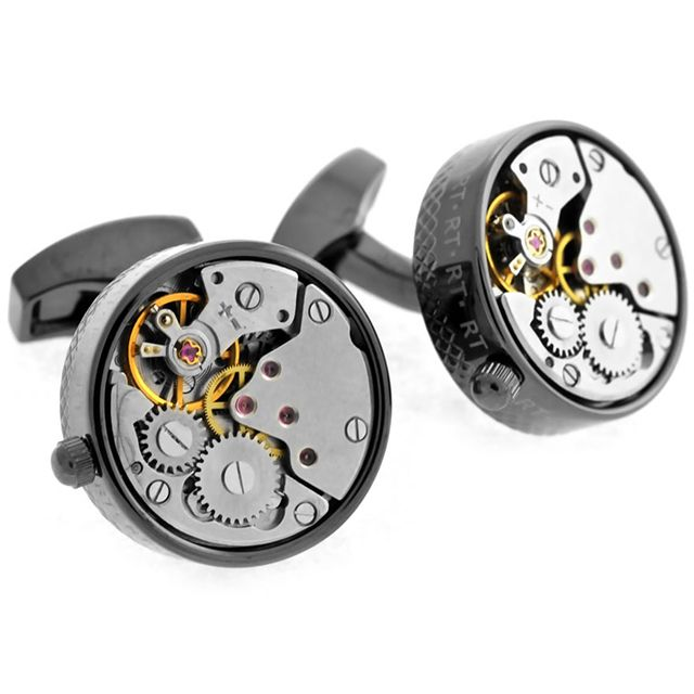 Awesome! They actually wind & move.  Skeleton Movement Cufflnks