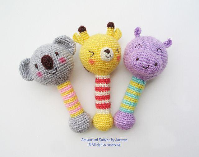 rattle 1 | Tejido, Patrones amigurumi y Bebé