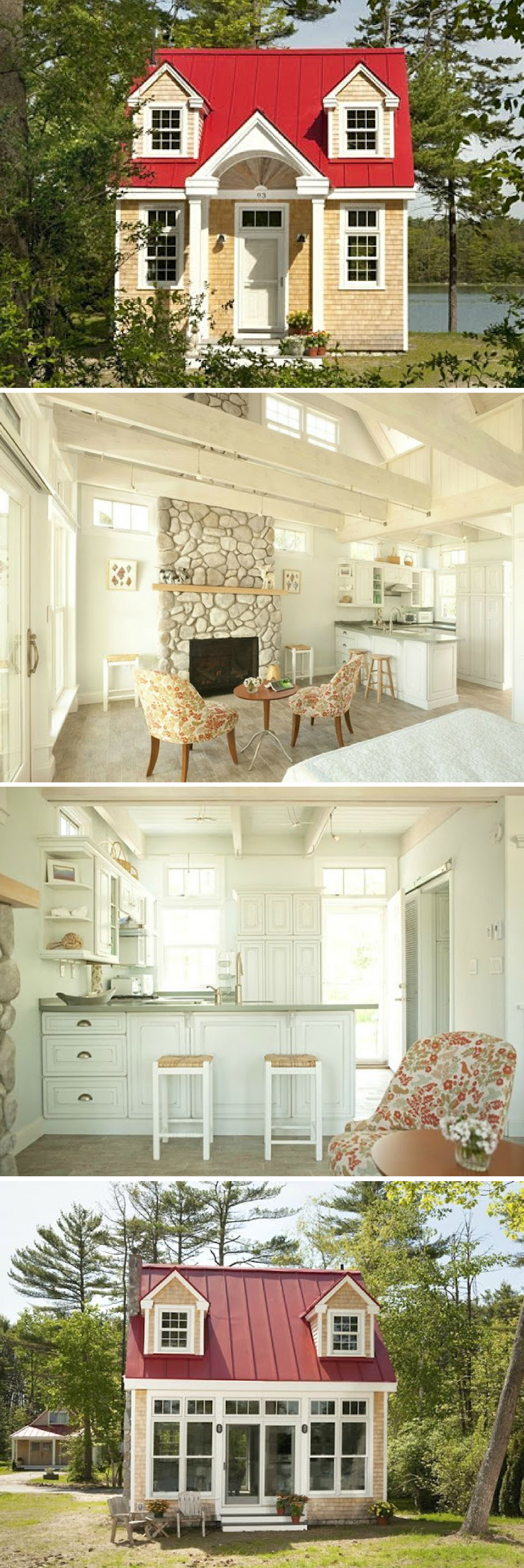 A tiny house in maine cabins and cottages pinterest for Minimalist cottage style