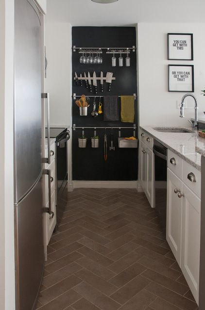 This Kitchen Had A Small Alcove At The End Of The Appliance Run