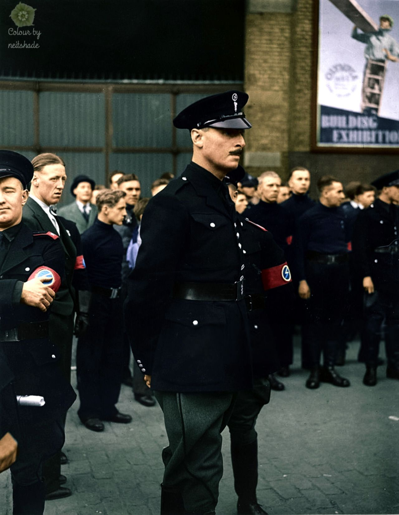 Oswald Mosley leading his British Union of Fascists blackshirts to ...