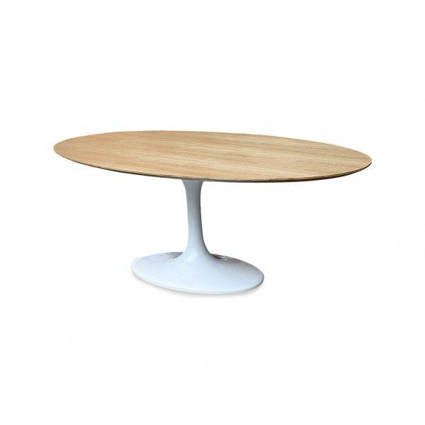 Tulip Dining Table Oval Natural Ash Top Eero Saarinen