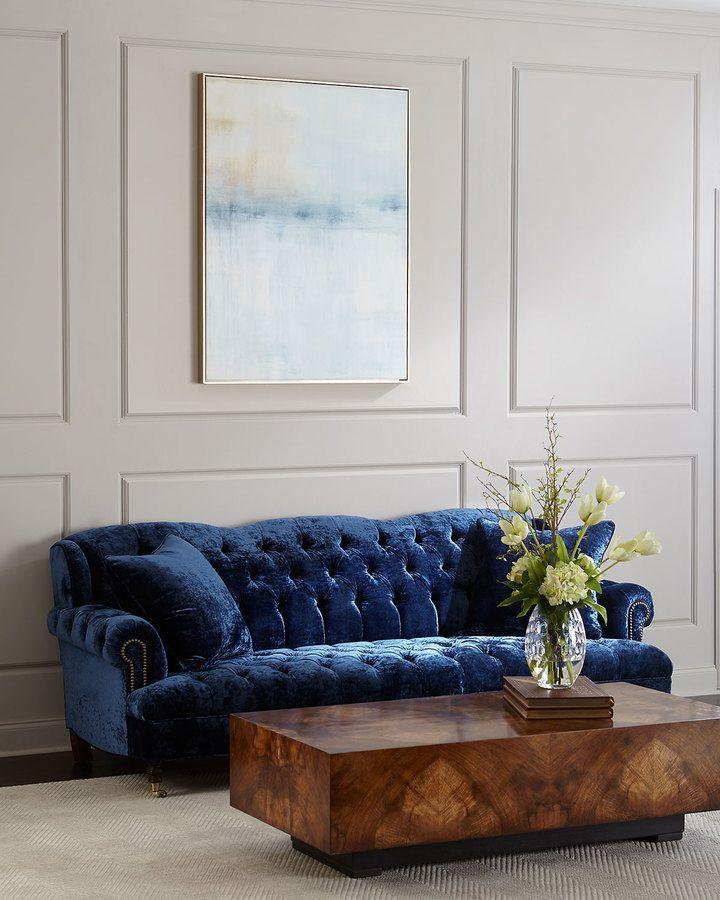 haute house divine tufted crushed velvet sofa 77  crushed