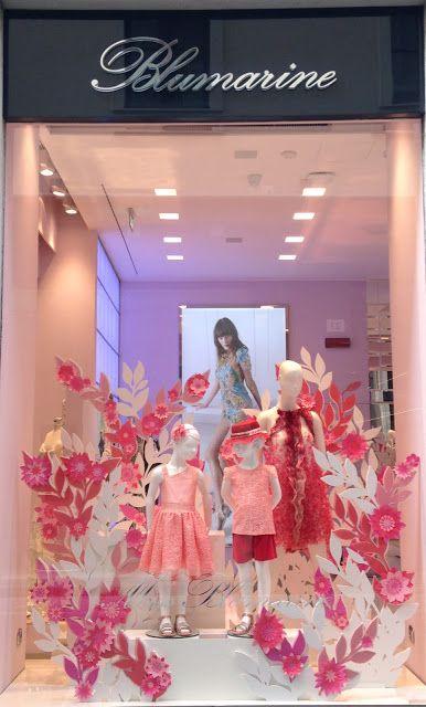 best service dd5fb 61b95 So pink and romantic. By Blumarine - Milan fashion windows ...