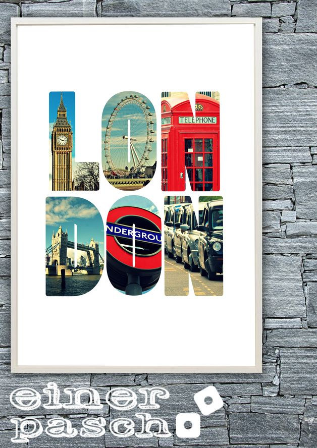 Einerpasch London England Uk Reise Sightseeing Travel Art Souvenir