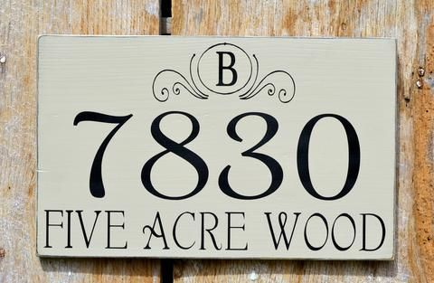 Custom Family Sign Plaque House Number Rustic Primitive Plaque Chic Shabby WOOD