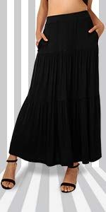 484654aef406 DJT Women's Flowy Handkerchief Hemline Midi Skirt Small Coffee at Amazon  Women's Clothing store: