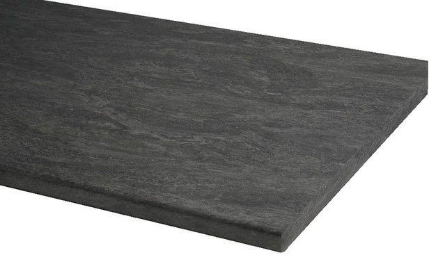 plan de travail stratifi long 180 cm d cor imitation pierre anthracite home pourcelet angel. Black Bedroom Furniture Sets. Home Design Ideas