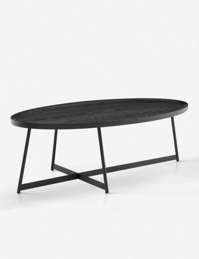 Gweneth Oval Coffee Table Black Ash In 2020 Coffee Table Oval Coffee Tables Oval Wood Coffee Table