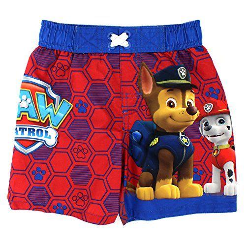3fb3b21860 Paw Patrol Boys Swim Trunks Swimwear Nickelodeon #FunStartsHere #Everyday  www.yankeetoybox.com Swimsuit Shorts Marshall Chase